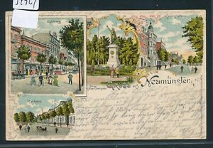 Agressif 34924) Ak Neumünster Excimer 4er Mbk Mairie, Grossflecken 1902 + Bahnpost-afficher Le Titre D'origine