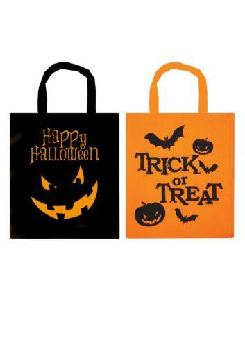 Halloween Treat Bag  Pumpkin Candy Basket Kids Fabric Loot Bag 28cmx34cm