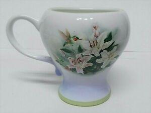 Lena-Liu-Mug-Hummingbird-and-Lilies-Teleflora-Gift-Footed-Coffee-Tea-Cup-Mug