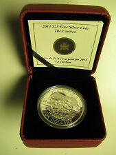2013 Proof $25 O Canada #4-Caribou 1oz .9999 silver twenty-five dollars