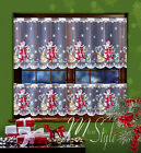Cafe Net Curtain Christmas Santa Pattern 19.5