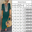 Women-Boho-V-Neck-Long-Maxi-Dress-Short-Sleeve-Casual-Kaftan-Tunic-Top-Sundress thumbnail 3