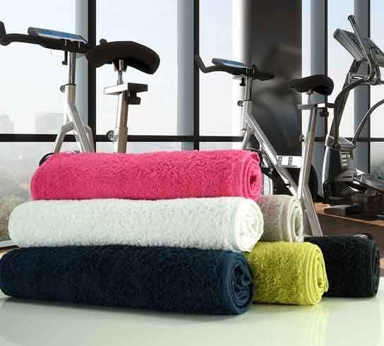 Gym Sweat fitness COTTON sport Serviette 100% COTTON fitness 500GSM en 6 couleurs 30cm x 100cm 365406
