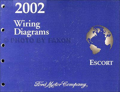 2002 ford escort and zx 2 zx2 wiring diagram manual oem electrical  schematics  ebay