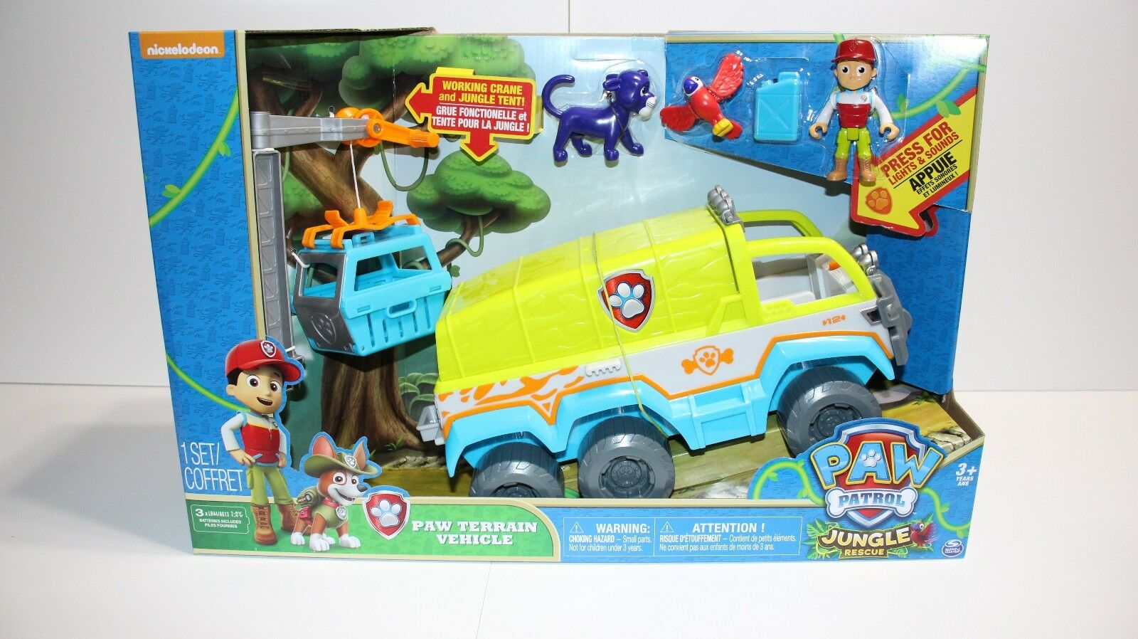 Paw Patrol Patrol Patrol Jungle Rescue Ryder Terrain Vehicle Playset New by Spin Master 261afb