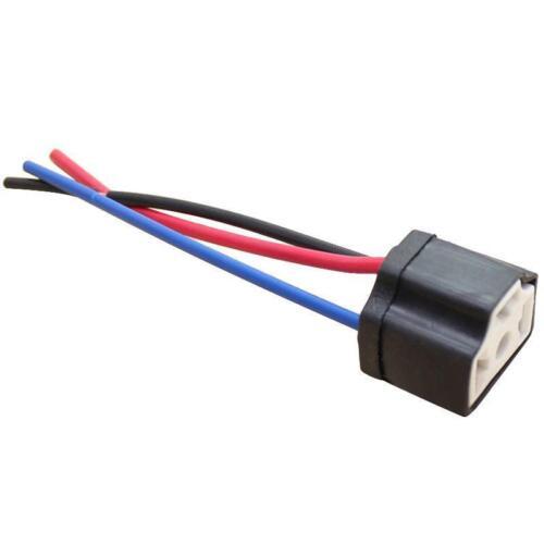 H4 9003 Ceramic Heat Resistance Headlight Wiring lamp holder socket plug NEW