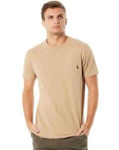 Rip-Curl-PLAIN-SLUB-TEE-Mens-Crew-Neck-Casual-T-Shirts-New-CTEMW2-Khaki