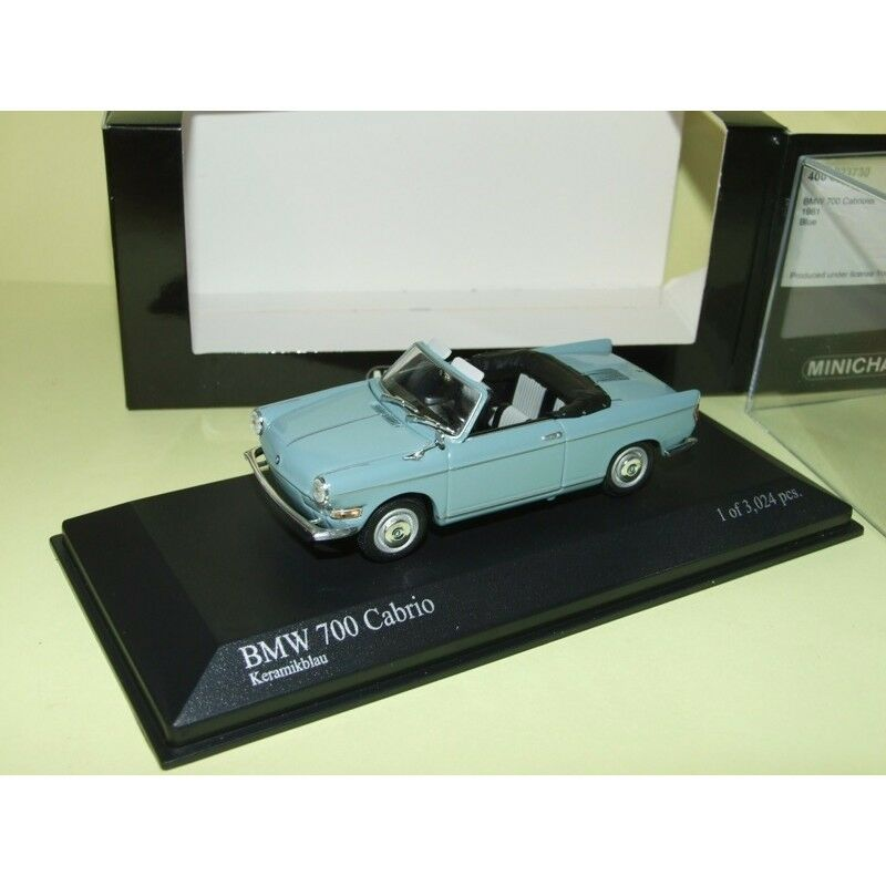 BMW 700 CABRIOLET Bleu MINICHAMPS 1 43