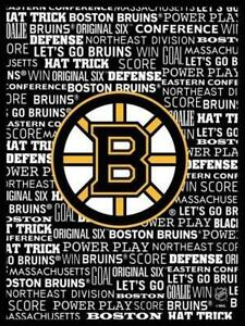 Boston Bruins Typography Framed Canvas Art Print (New) Canada Preview