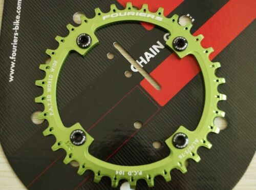 FOURIERS BCD104 Chainring N//W Teeth Mountain Bike MTB Bicycle Chainwheel DX003
