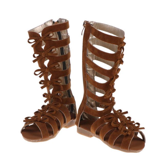 1 Pair Kids Girls Summer Boots Roman Sandals Toddler Gladiator Sandals