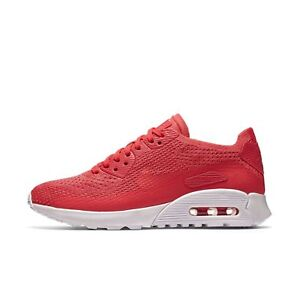 700ef6e76e Womens Nike Air Max 90 Ultra 2.0 Flyknit Running Shoes Pink White ...