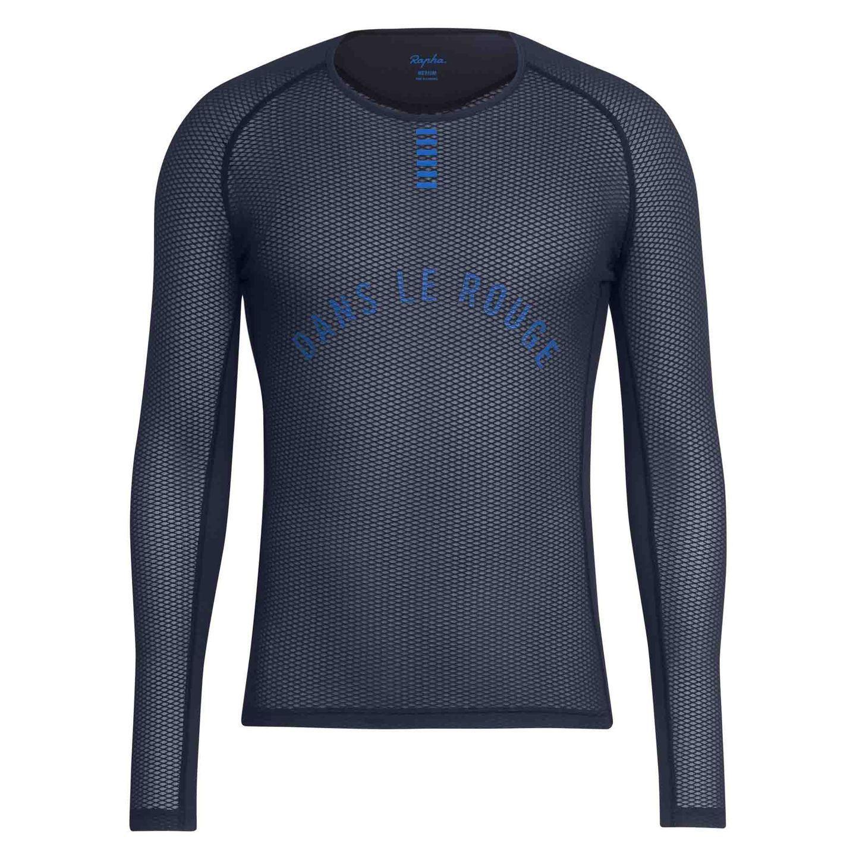 Rapha Cycling Base Layer XXL Long Sleeve RCC Pro Team blu Racing blu