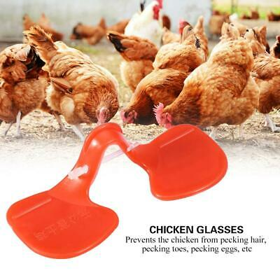 US 20x Poultry Chicken Eyes Peeper Glasses Hen Spectacles Anti-pecking Each