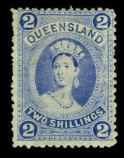 QUEENSLAND 1882  Queen Victoria   2sh ultra  Scott # 74 mint  MH