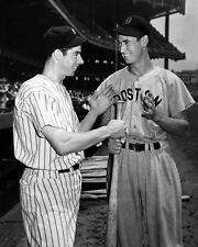 New York JOE DIMAGGIO & Red Sox TED WILLIAMS @ Yankees Stadium Glossy 8x10 Photo