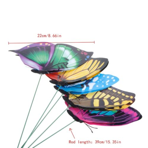 Colorful Fairy Butterfly On Stick Ornament Home Garden Vase Lawn Art Craft Decor