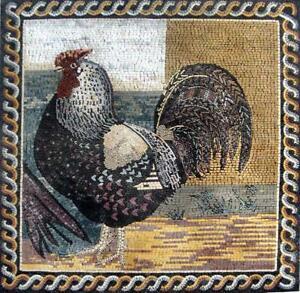 Mosaic Kitchen Backsplash-Royal rooster Mosaic Birds And ...