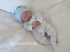 Newborn Reborn Baby BOY Doll sleeping ... #RebornBabyDollART UK