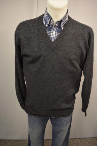 Kaschmir Top Klassisch Pullover 241 Herren Barisal Dunkelgrau 100 Strick 52 xYv0wz8q
