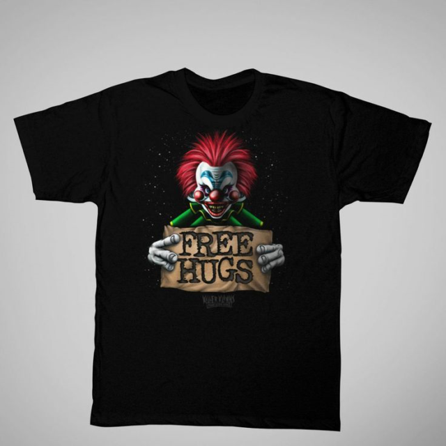 Killer Klowns From Outer Space Free Hugs black 2XL t-shirt, US horror/comedy