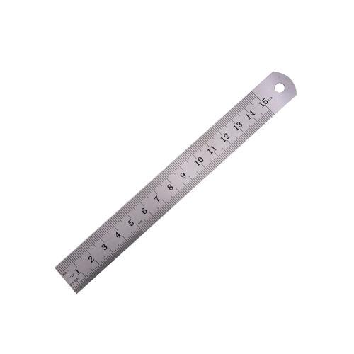 Règle métrique précision double face outil de mesure 15cm règle de métal/_F