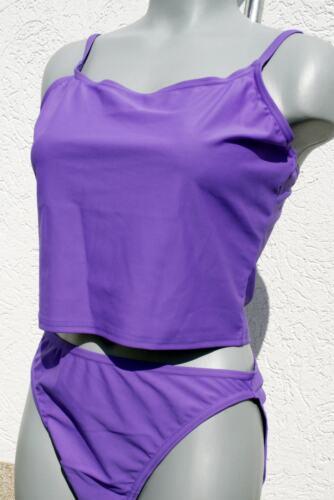 2018//19 Saison 440578 Gourami Marken Träger Tankini Bikini hoher Slip Lila in 44