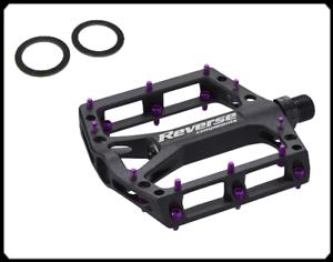 Reverse Black ONE Flat Fahrrad Pedal schwarz//lila