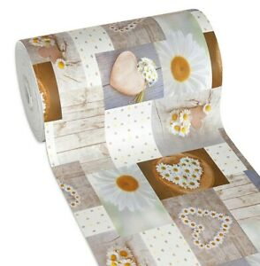 Materiale Per Shabby Chic.Details About Carpet Kitchen Shabby Chic Daisies Pvc Stain Non Slip Mod Mendy9