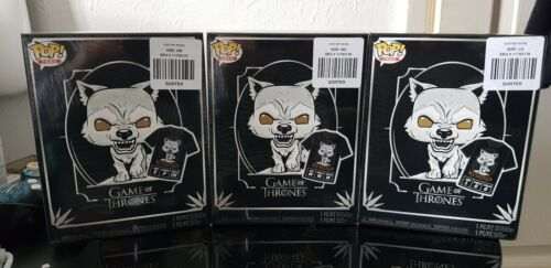 Nymeria Funko POP tshirt and Pop Bundle IN HAND Large Game of thrones direwolves