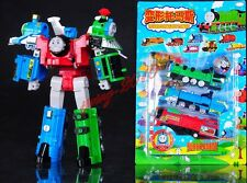 "Thomas The Train Transformer ""Super Thomas"" Voltron Devastator Tank Engine Gift"
