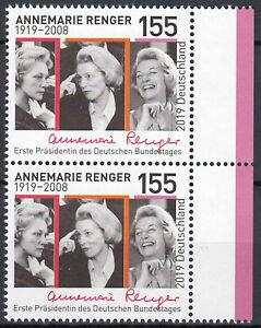 3499-postfrisch-Paar-senkrecht-Rand-rechts-BRD-Bund-Deutschland-Briefmarke-2019