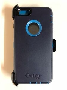low priced 44242 cc9c0 Details about Otterbox Defender Case for Iphone 6 Plus & iPhone 6s Plus  W/Holster Navy/Blue