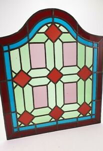 Antique-Stained-Leaded-Glass-Window-Panel