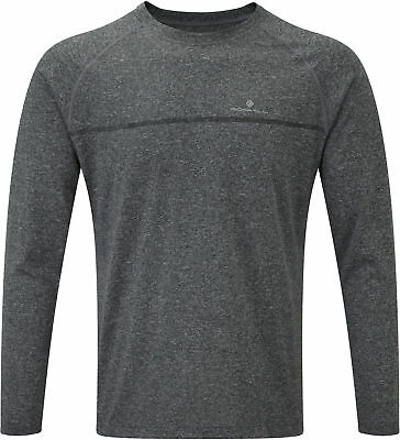Grey Volume Large Spirited Ronhill Everyday Mens Long Sleeve Running Top Men's Clothing