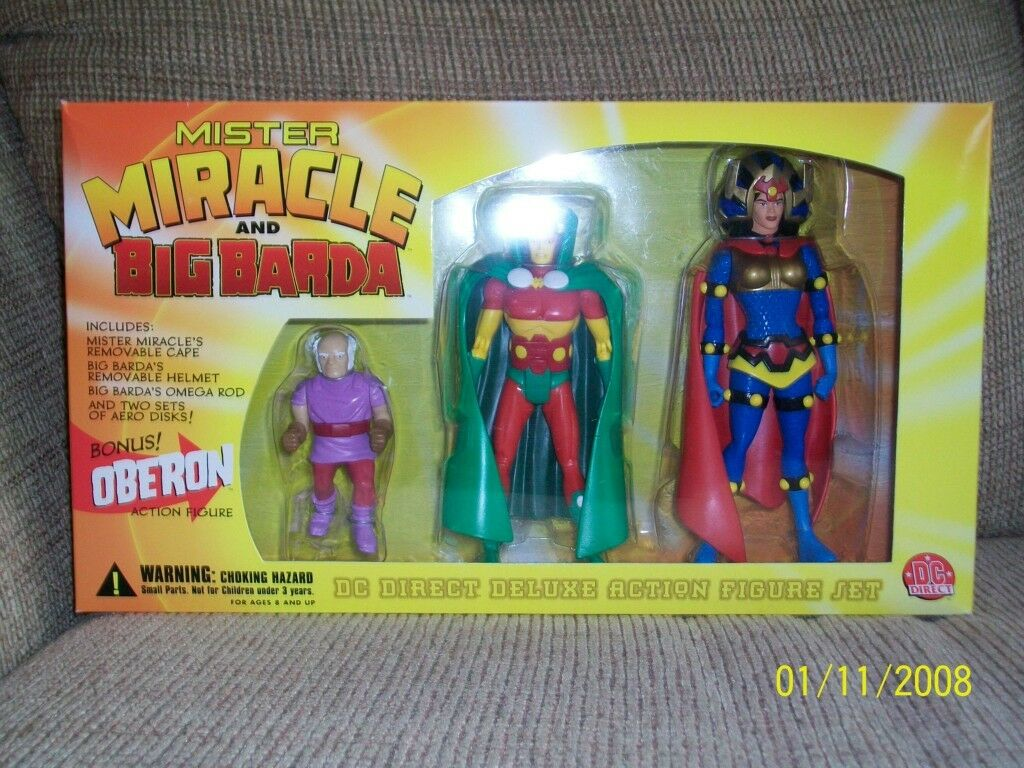 DC Direct New Gods-Mr. Miracle Barda Oberon, Darkseid Orion, Kalibak, 2 New Gods