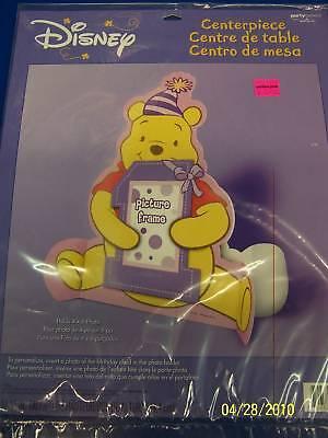 RARE Winnie the Pooh 1st Birthday Boy Party Decoration Paper Photo Centerpiece *