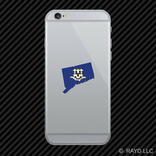 Connecticut State Shaped Flag Cell Phone Sticker Mobile CT