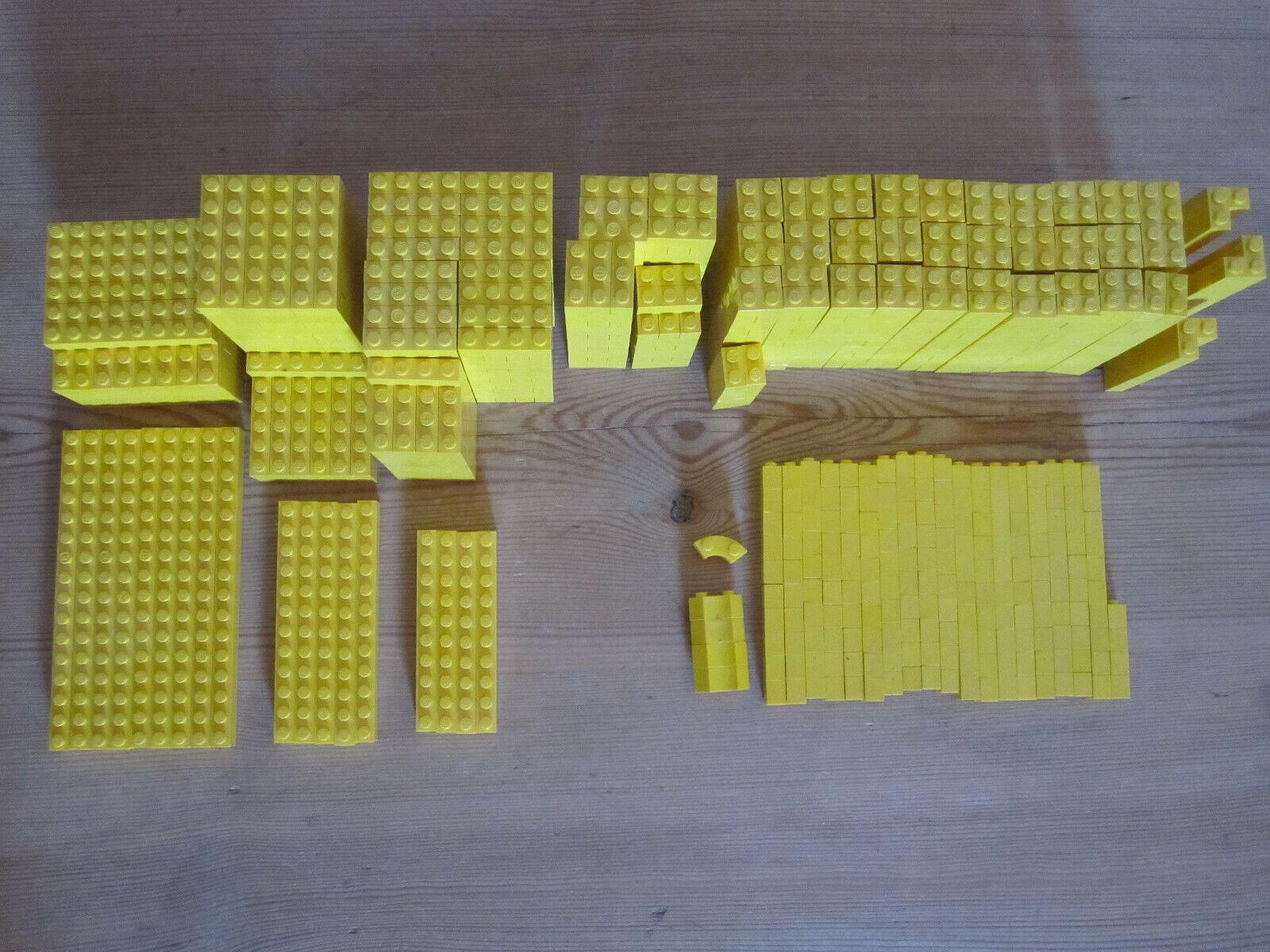 LEGO 1,46kg Basis Steine 1-reihig gelb sortiert