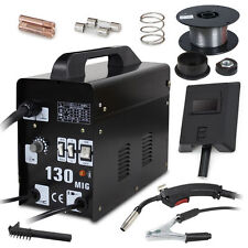 MIG 130 Welder Gas Less Flux Core Wire Automatic Feed Welding Machine Tools Kit