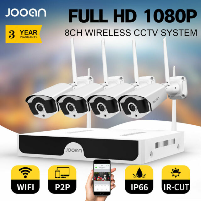 JOOAN 8CH NVR Wireless HD 1080P NVR  Outdoor IR Home CCTV Security System