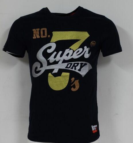 Superdry M10022TR 98 T Super 7 Logo SUPERDRY Tee Vintage T-SHIRT BLEU MARINE ECLIPSE