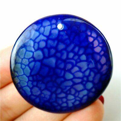 pink Dragon Veins Agate Pendant stone EA394 Blue