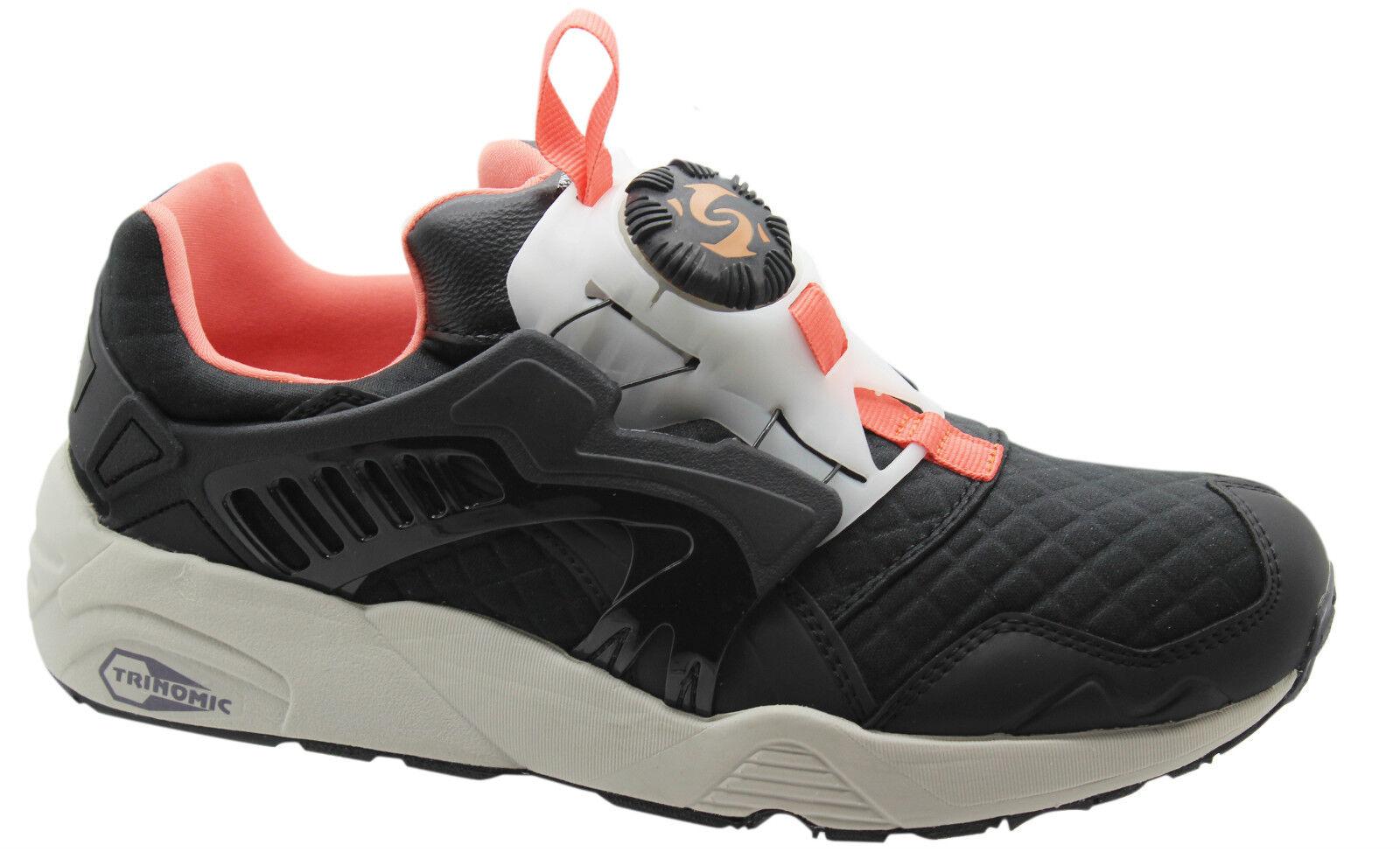 Puma Trinomic Disc Blaze Emboss Mens Trainers Slip On Shoes Black 359358 01 D73