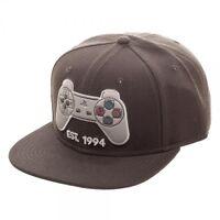 Grey Playstation Est 1994 Logo Snapback Hat Cap Sony Official Ps1 Controller Ps