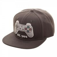 Grey Playstation Est 1994 Logo Snapback Hat Cap Sony Official Ps1 Controller Ps