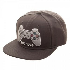 f11ebaa3945 Image is loading Classic-Playstation-Controller-Snapback-Hat-Sony-Official -PS1-