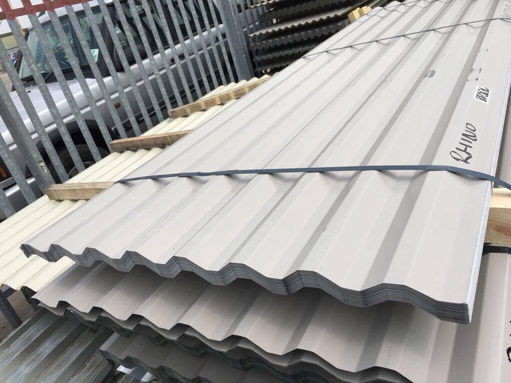 Box Profile 26 1000 Steel Roofing Sheets Light Grey Cheap