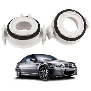 2X Adapters H7 HID Bulbs Holders Clip For High or Low Beam For BMW E46 3 Series