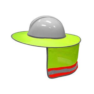 2 Pack,Yellow XIAKE Hard Hat Sun Shield Full Brim Mesh Sunshade High Visibility